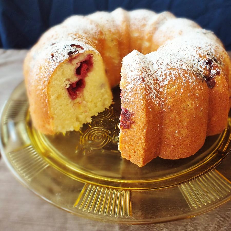 preserved lemon and raspberry bundt cake | DAVE BAKES