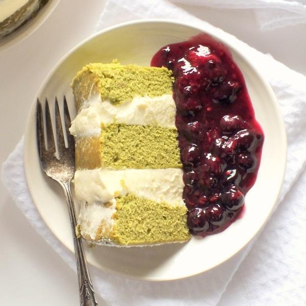 green tea cake 1